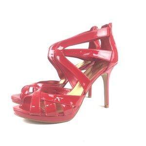 MARC FISHER Red Strappy Heel Sandals Size 9